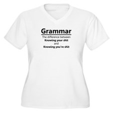 Grammar Humor Plus Size T-Shirt