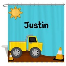 Construction Truck Personalized Shower Curtain