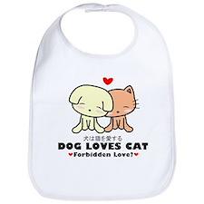 Dog Loves Cat Bib