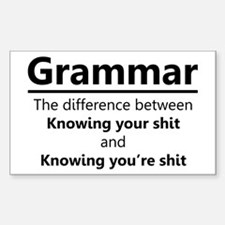 Grammar Humor Decal