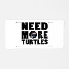 Turtles more Aluminum License Plate
