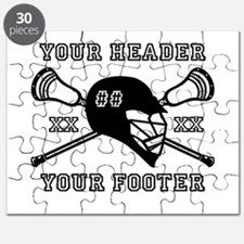 Lacrosse Team Black Alpha Puzzle