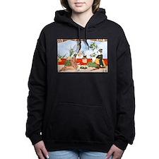 Cute Kimono Women's Hooded Sweatshirt