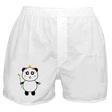 Queen Panda Holding Bamboo Boxer Shorts