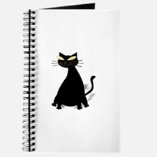 Funny Fat black cats Journal