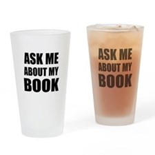 Ask me about my Book Drinking Glass