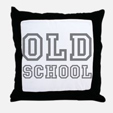 OLD SCHOOL Throw Pillow
