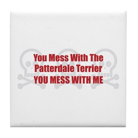 Mess With Patterdale Tile Coaster