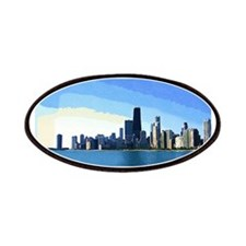 Chicago Skyline in Goache Patches