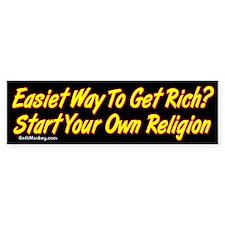 Get Rich Bumper Bumper Sticker