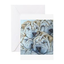 shar pei Greeting Cards