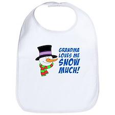 Grandma Loves Me Snow Much Bib