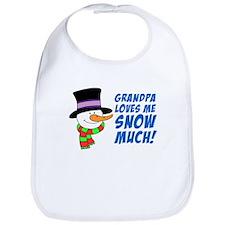 Grandpa Loves Me Snow Much Bib