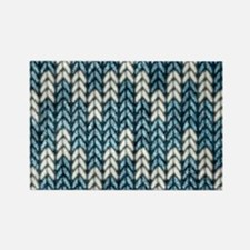 Blue Knit Graphic Pattern Magnets