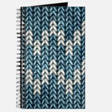 Blue Knit Graphic Pattern Journal
