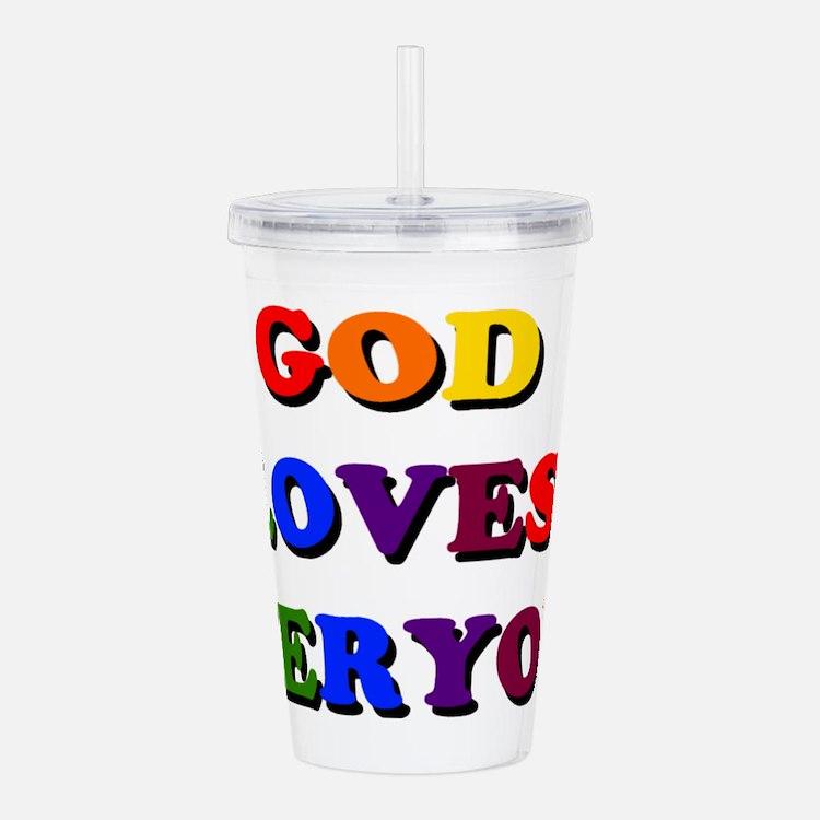 God Loves Everyone Acrylic Double-Wall Tumbler