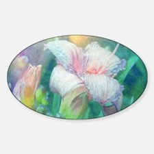 pastel lilies oil painting Decal