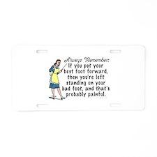 Funny Retro Best Foot Demotivational Aluminum Lice
