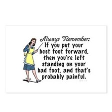 Funny Retro Best Foot Demotivational Postcards (Pa