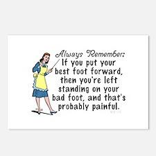 Funny Retro Best Foot Demotivational Postcards (Pa