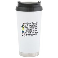 Funny Retro Best Foot Demotivational Travel Mug
