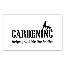 Gardening helps hide bodies Decal