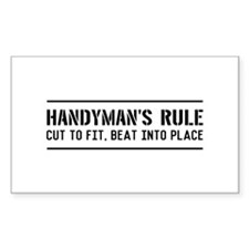 Handymans rule Decal