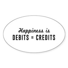 Happiness is debits credits Decal