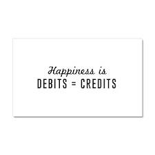 Happiness is debits credits Car Magnet 20 x 12
