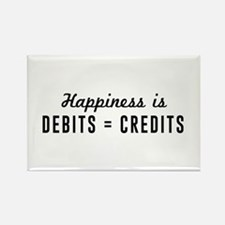 Happiness is debits credits Magnets