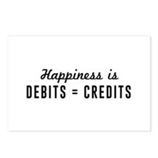 Happiness is debits credits Postcards (Package of