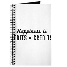 Happiness is debits credits Journal