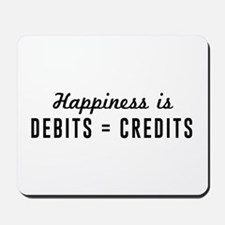 Happiness is debits credits Mousepad