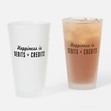 Happiness is debits credits Drinking Glass