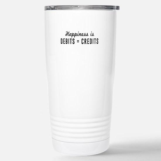 Happiness is debits credits Travel Mug
