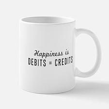 Happiness is debits credits Mugs