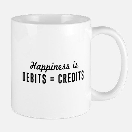 Happiness is debits credits Mugs