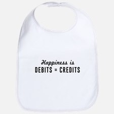 Happiness is debits credits Bib