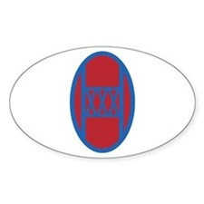 30th Infantry Brigade Oval Decal
