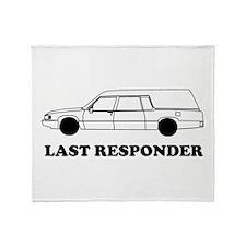 Hearse last responder Throw Blanket