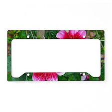 Unique Floral botanical License Plate Holder