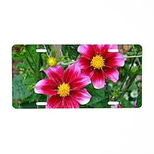 Cute Floral botanical Aluminum License Plate