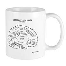 Republican Brain Mug Mugs