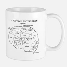 A Football Player's Brain Mug Mugs