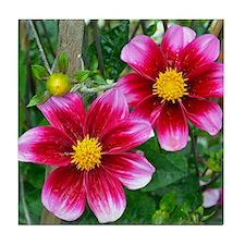 Cute Floral botanical Tile Coaster