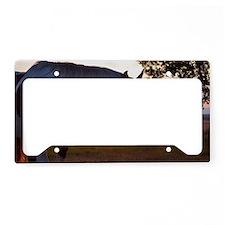 Evening Sun Horse License Plate Holder