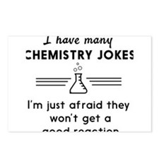 Chemistry jokes reactions Postcards (Package of 8)