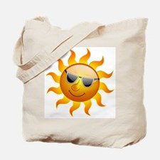 COOL SMILEY FACE SUNSHINE Tote Bag