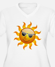 COOL SMILEY FACE SUNSHINE Plus Size T-Shirt