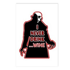 Dracula I Never Drink Win Postcards (Package of 8)